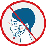 SOS COVID-19 information Incorrect Mask Example Loose Mask