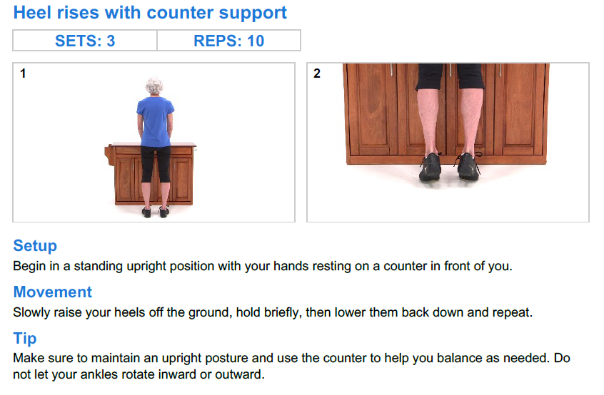 Heel Raises with Counter Support
