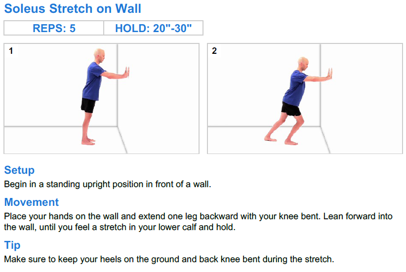 Soleus Stretch on Wall