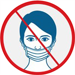 SOS COVID-19 information Incorrect Mask Example Under nose